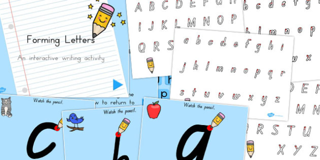 Australia Handwriting Sheet and Letter Formation PowerPoints Pack