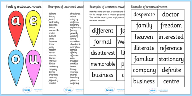 Finding Unstressed Vowels Activity - finding unstressed vowels activity, unstressed vowels, vowels, activity, finding, work sheet, unstressed, vowel, grammar, english