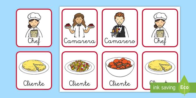 Chapas de juego de rol: El restaurante - comer sano, comida sana, comer saludable, comida saludable, fruta, verdura, dieta saludable, dieta s