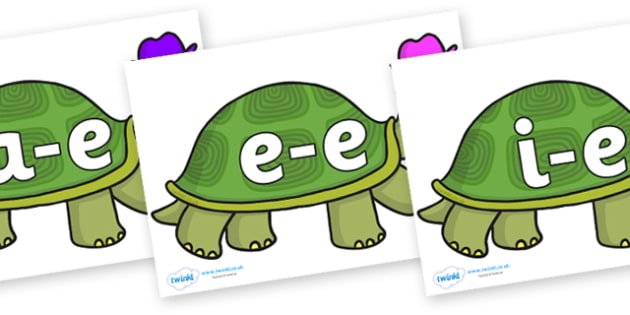 Modifying E Letters on Tortoise - Modifying E, letters, modify, Phase 5, Phase five, alternative spellings for phonemes, DfES letters and Sounds