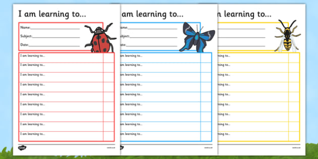 Minibeasts Themed Target and Achievement Sheets - minibeasts, target and achievement, target, achievement, sheets