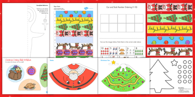 Christmas Themed Scissor Skills Pack - christmas, scissor, skills, pack