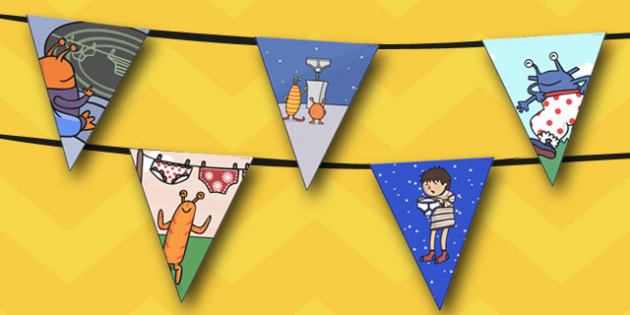 Display Bunting to Support Teaching on Aliens Love Underpants - australia, aliens, underpants
