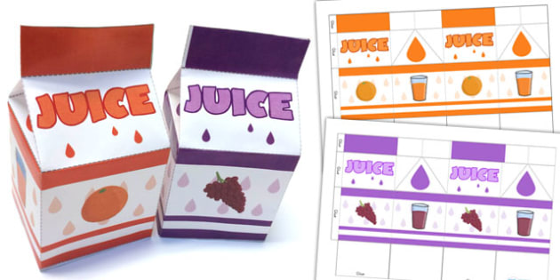 Roleplay Supermarket Juice Cartons - shops, role play, props