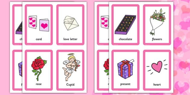 Valentine's Day Pairs Matching Game - valentines, day, pairs