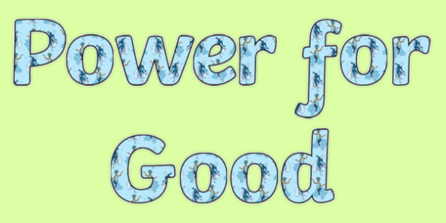 Anti Bullying Week Superhero 'Power for Good' Display Lettering