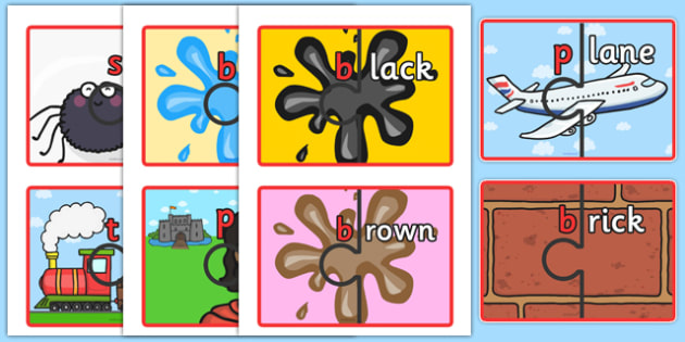 Splitting Blends Jigsaws Set 2 - blends, jigsaws, set 2, split