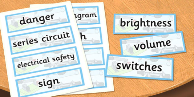 Year 6 Electricity Scientific Vocabulary Cards - vocabulary, cards