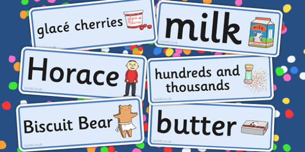 Word Cards to Support Teaching on Biscuit Bear - word cards, cards, biscuit, bear