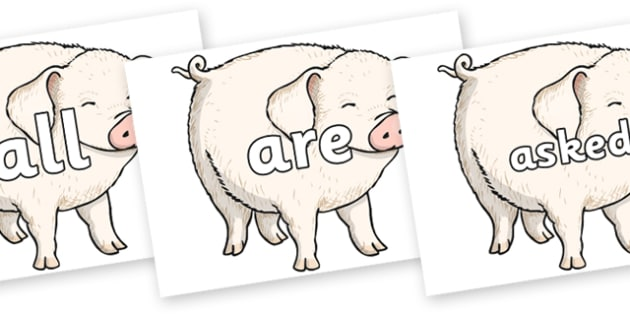 Tricky Words on Wilbur - Tricky words, DfES Letters and Sounds, Letters and sounds, display, words