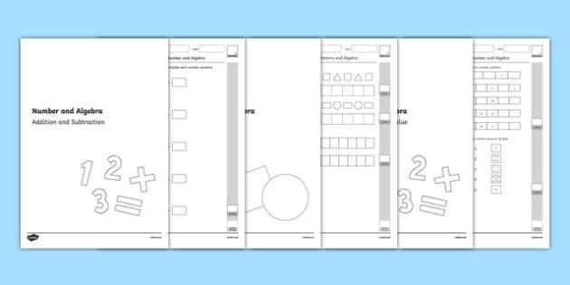 Kindergarten Number and Algebra Assessment Pack-Australia