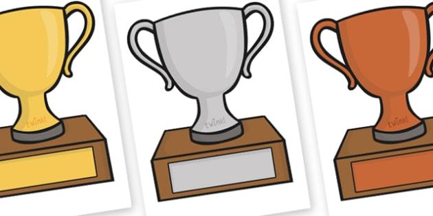 Editable Classroom Award Trophies - award, class management