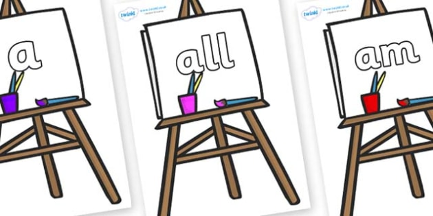 Foundation Stage 2 Keywords on Easel - FS2, CLL, keywords, Communication language and literacy,  Display, Key words, high frequency words, foundation stage literacy, DfES Letters and Sounds, Letters and Sounds, spelling