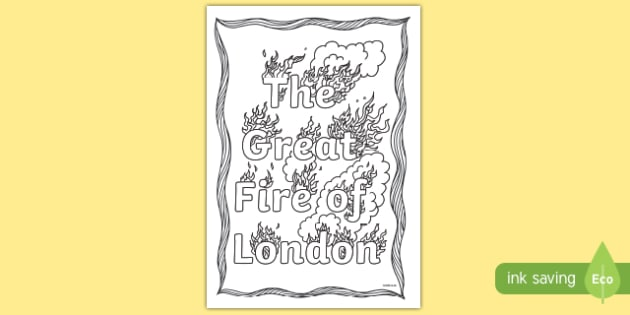 The Great Fire of London Colouring Page