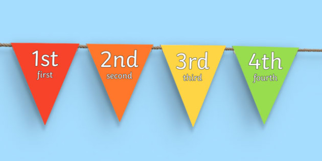 Ordinal Numbers 1-31 (Bunting) - Display posters, counting, 1-31, 1st, 2nd, 3rd, first, second, third, foundation stage numeracy, ordinal, numeracy, bunting