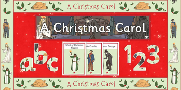 A Christmas Carol Display Pack - Scrooge, spirits, ghosts, Dickens, Victorian