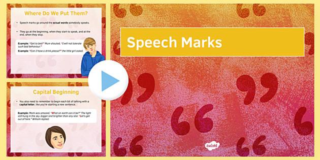 LA Speech Marks Starter PowerPoint - speech marks, punctuation, direct speech, SPAG, dialogue, starter, revision, proof read