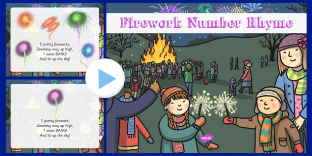 Fireworks Number Rhyme PowerPoint - fireworks, number, rhyme, powerpoint