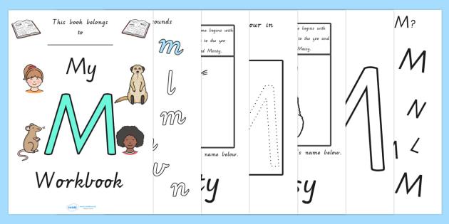 My Workbook M Uppercase - letter formation, fine motor skills