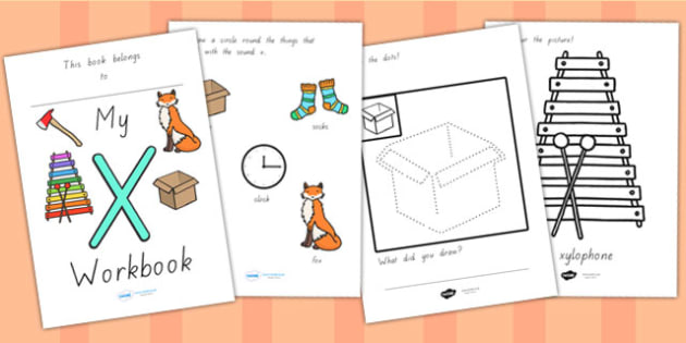 My Workbook X Lowercase - letter formation, writing, tracing
