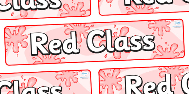 Red Themed Classroom Display Banner - Themed banner, banner, display banner, Classroom labels, Area labels, Poster, Display, Areas