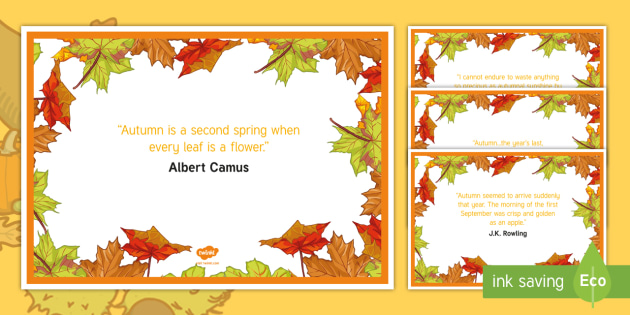 Elderly Care - Autumn A4 Display Poster - Autumn, Seasons, Display, September, October, November, Leaves, Harvest, Activity Co-ordinators, Sup