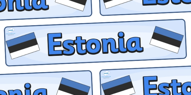 Estonia Display Banner - Estonia, Olympics, Olympic Games, sports, Olympic, London, 2012, display, banner, sign, poster, activity, Olympic torch, flag, countries, medal, Olympic Rings, mascots, flame, compete, events, tennis, athlete, swimming