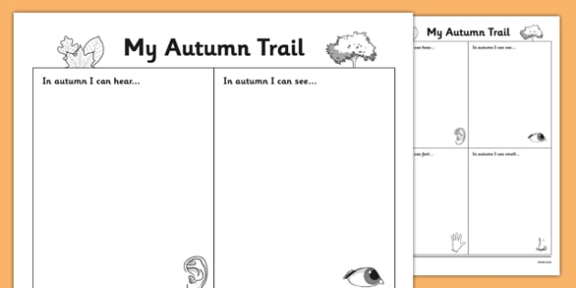 Autumn Observation Worksheet - roi, irish, republic of ireland, autumn, observation