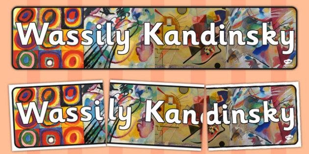 Wassily Kandinsky Display Banner - wassily, kandinsky, display