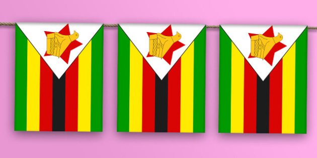 Zimbabwe Flag Bunting - zimbabwe flag, zimbabwe, flag, display bunting, display, bunting