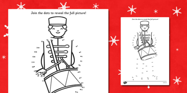 Toy Soldier Dot to Dot Sheet - dot to dot, dot-to-dot, activity, fun, dot to dot activity, toy soldier, toy soldier dot to dot, soldier dot to dot, activity sheet, drawing, fine motor skills, counting, numbers, wet play