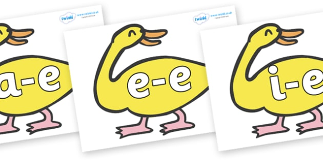 Modifying E Letters on Yellow Duck to Support Teaching on Brown Bear, Brown Bear - Modifying E, letters, modify, Phase 5, Phase five, alternative spellings for phonemes, DfES letters and Sounds
