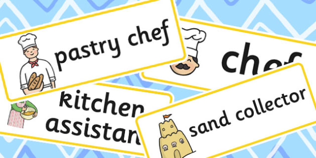 Sand Kitchen Role Play Labels - label, kitchens, visual, aids
