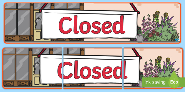 Closed Sign Display Banner - closed sign, display banner, display, banner, closed, sign, display sign