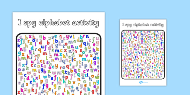 I Spy Alphabet Activity - I spy, alphabet, activity, game, letter