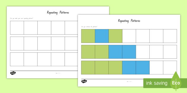 Repeating Patterns Activity Sheet - New Zealand Back to School, repeating pattern, colours, editable, template, maths, patterns, colouri