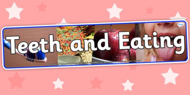 Teeth and Eating Photo Display Banner - teeth and eating, photo display banner, photo banner, display banner, banner,  banner for display, display photo