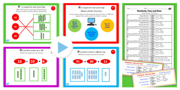 Y2 Maths Recognise Place Value Digit Two Digit Number Lesson Pack