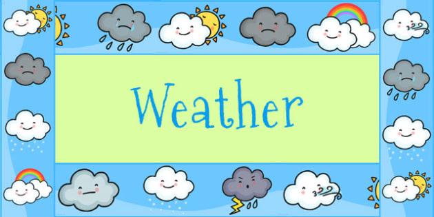 Weather Themed Display Borders - weather, display border, display