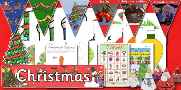 Classroom Christmas Decorations Pack - classroom, christmas, pack