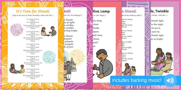 Diwali Songs and Rhymes Resource Pack