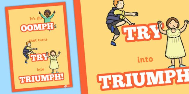 Triumph Motivational Poster - motivational, poster, triumph