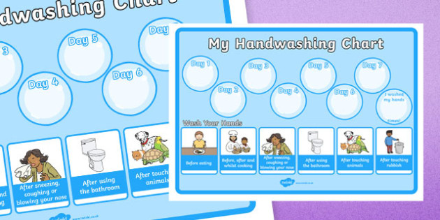 Hand Washing Record Chart Display Poster - hand washing, hygiene, hand washing chart, how many times I have washed my hands, my hand washing chart, hand washing record