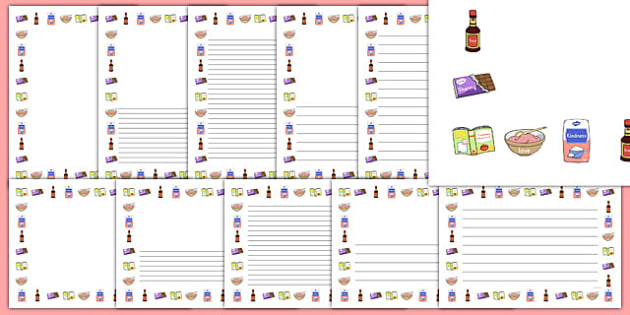 Friendship Recipe Page Borders - friendship recipe, page borders, friendship, recipe