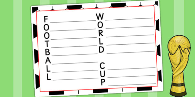 Football World Cup Acrostic Poem - football, world cup, sport