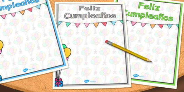Pósters de colores ¡Feliz cumpleaños! - cumpleaños