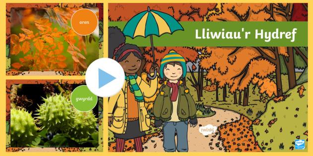 Pwerbwynt Lliwiau'r Hydref - cymraeg, autumn, colours, photo, powerpoint, Yr hydref cyfnod allweddol 1