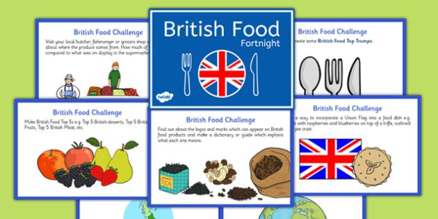 British Food Fortnight Challenge Cards - british food fortnight