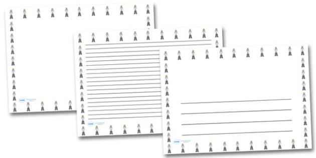 Female Doctor Landscape Page Borders- Landscape Page Borders - Page border, border, writing template, writing aid, writing frame, a4 border, template, templates, landscape