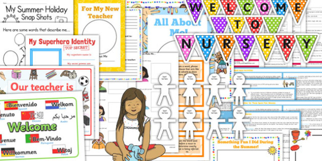EYFS Back to School or Nursery Resource Pack - EYFS Transition Activities